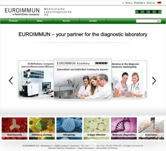 Website EUROIMMMUN AG